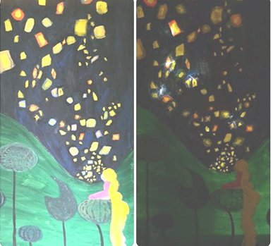 Floating Lights Uptown Painting Party