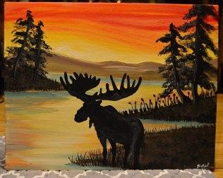sunset-moose