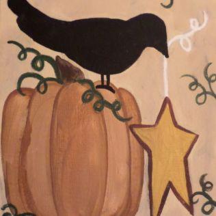 pumpkin crow