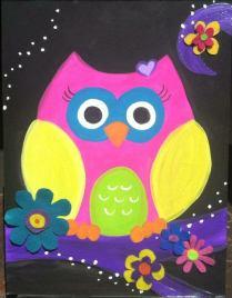 anna_neon felt owl kids