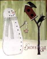 burlap-snowman