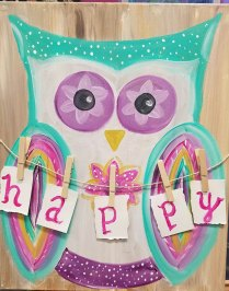 happy owl_kathy