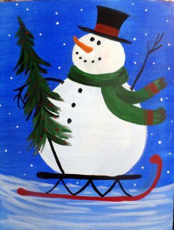 snow-man-sleigh