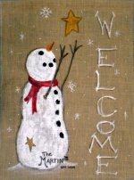 snowman-burlap