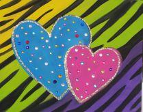 zebra hearts